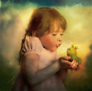 Little-girl-and-bird-by-Claudia-Lucia-McKinney