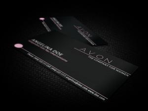 Black-Avon-Business-Card-Template